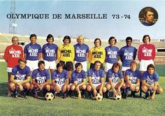 OLYMPIQUE DE MARSEILLE 1973-74.
