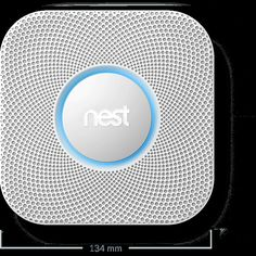 Nest smoke alarm/carbon monoxide detectors, come in white or black. Love to have but at $99 each, most can't afford more than one!