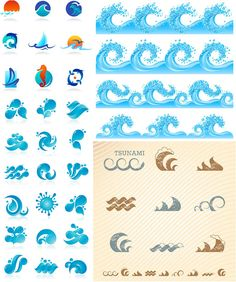 Sea wave logos vector,  Go To www.likegossip.com to get more Gossip News!
