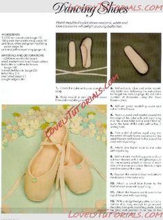 как слепить балетки -gumapste Ballet Slippers(dancing shoes) - Мастер-классы по украшению тортов Cake Decorating Tutorials (How To's) Tortas Paso a Paso