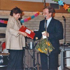 Afscheid Adri de Vries - zomer 1984 Adri en Tiemen Bosma