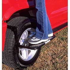HitchMate -TireStep: a simple hang-on step to get into the bed of truck quickly. Great for camping, outdoor activities, tailgating, etc.
