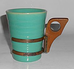 Bauer Pottery Ring Ware Jade 6 Oz Tumbler W/handle Mint