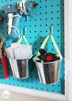 DIY Pegboard Craft Organizer