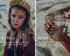 kupala - slavic goddess of the summer solstice, joy & water Greek Mythology Gods, Greek Gods And Goddesses, Roman Mythology, Names Of Goddesses, Goddess Names And Meanings, Norse Mythology Goddesses, Pretty Names, Cool Names, Unique Names