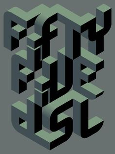 Fifty Five Dsl #typography #diesel #3d