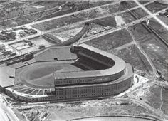 Yankee Stadium at about the time of its opening in 1923.