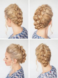 Love this hairstyle to add some structure to curly hair. Check out ...