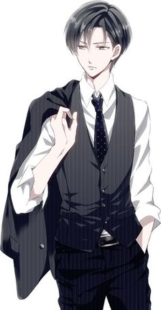Resultado de imagen para levi vestido casualmente anime
