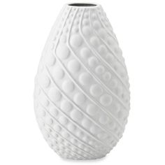Bombay White 14.5-In. Matte White Spirals Dots Vase ($35) ❤ liked on Polyvore featuring home, home decor, vases, white, white vase, dot vase, spiral vase, ceramic home decor and polka dot home decor