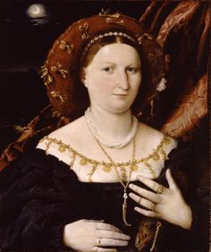 """Portrait of Lucina Brembati, Lorenzo Lotto, oil on wood. From """"Bellini, Titian, and Lotto"""" at the Metropolitan Museum of Art Mode Renaissance, Renaissance Kunst, Renaissance Portraits, Renaissance Fashion, Renaissance Clothing, Italian Renaissance, Charles Viii, 1500s Fashion, 16th Century Fashion"""