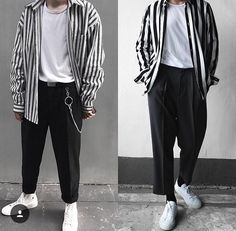 Fitness outfits sweatpants Ideas for 2019 Look Fashion, 90s Fashion, Urban Fashion, High Fashion, Fashion Outfits, Outfits Hombre, Outfit Grid, Men's Suits, Character Outfits