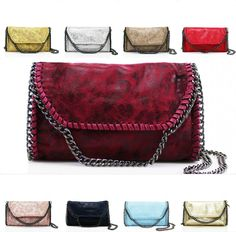 a625589066 Details about Women 9322 Hanging Chain Trim Cross Body Ladies Girl Shoulder  Clutch Side Bag