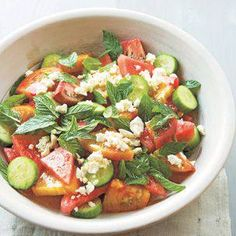 Heirloom Tomato and Watermelon Salad with Feta and Mint Williams-Sonoma