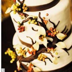 Fall themed wedding cake!