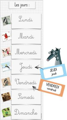 La date avec Loup French Flashcards, Wolf, Petite Section, French Lessons, First Day Of School, Grade 1, Activities For Kids, Preschool, Language