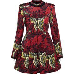 Marc by Marc Jacobs Acanthus Bonded Velvet Moulded Dress ($898) ❤ liked on Polyvore featuring dresses, victorian dress, print cocktail dress, velvet dress, flutter dress and pattern dress