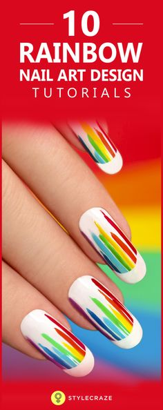 Is your week simply dragging on? You know what would be a fun way to lift your spirits? Rainbow nails! A rare thing, the rainbow – you only see it when it rains and the sun shines, both at the same time. But, if you have it on your nails, you have your very own view all the time!