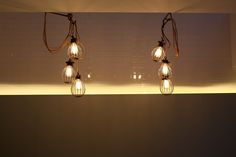 Islington townhouse Highbury House, refurbished using #Factorylux fabric cable, bulbs and bulb guards.