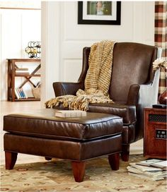 Beau Leather Reading Chair