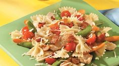 Chicken and Tomato Bow-Tie Stir-Fry
