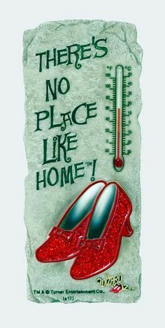 "WIZARD OF OZ RUBY SHOES HOME THERMOMETER 7 3/4"" TALL 3 1/4"" WIDE RESIN ·"