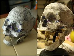 2. Papier-Mache - 10 Cool and Creative DIY Skull Craft Projects ... | All Women Stalk