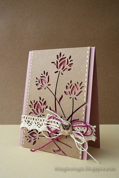 pretty die cut card