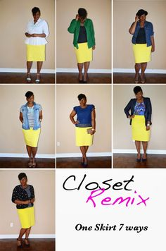 Closet remix: one skirt 7 ways