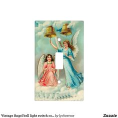 Vintage Angel bell light switch cover
