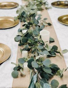 Eucalyptus Centerpiece, Greenery Centerpiece, Eucalyptus Garland, Greenery Garland, Seeded Eucalyptus, Eucalyptus Wedding, Wedding Table Centerpieces, Simple Table Decorations, Green Wedding Decorations
