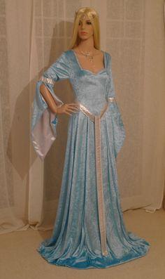 Elfen Kleid Mittelalter Renaissance Fee Kleid Herr der Ringe Hobbit ,