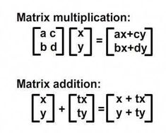 Understanding Affine Transformations With Matrix Mathematics Mathematical Logic, Physics And Mathematics, Love Math, Fun Math, Maria Montessori, Affine Transformation, Matrix Multiplication, Statistics Math, Math Measurement
