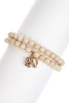 Riverstone & Good Luck Elephant Bracelet Set on HauteLook