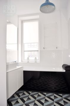 Bathroom by MiloKoo. Tiles: Purpura. #cementtiles