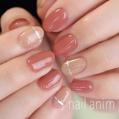 For those occasions when clear polish just isn't enough, add a little nail art to your nudes. Classy Nails, Fancy Nails, Simple Nails, Love Nails, How To Do Nails, Pretty Nails, My Nails, Gel Nagel Design, Round Nails