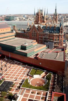 Next to St Pancras International station (home of the Eurostar) lies the British Library. Two stunning buildings side by side!