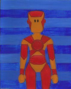 Iron Man Original Illustration by maddierosedoodles on Etsy, $30.00