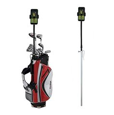 Golf Gadgets  Golf Bag Video Recording  Device Mounting System Using Your Phone or Tablet Capture Footage on the Course or Range Flexible Bag Pole >>> Details can be found by clicking on the image.