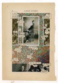 Newspaper art, or Humument, by Tom Phillips Altered Books, Altered Art, Tom Phillips, Zentangle, Poesia Visual, Found Poetry, Newspaper Art, Blackout Poetry, Poetry Art
