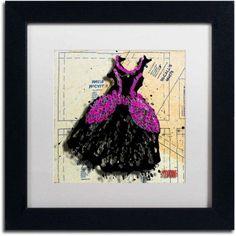 Trademark Fine Art Black n Purple Swirls Canvas Art by Roderick Stevens, White Matte, Black Frame, Size: 16 x 16