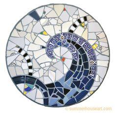 Blue Fandango Mosaic  by Will Bushell at summerhouseart.com