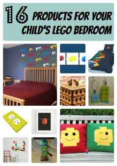 LEGO-Inspired Bedroom Decor-I could DYI so many of these!