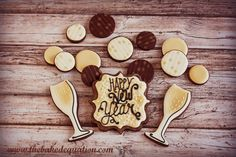New Years Eve Cookies - The Baked Equation #newyears #newyearseve #decoratedcookies