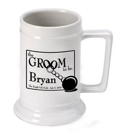 Personalized Groom to Be Beer Stein  Beer by RJsPersonalizedGifts