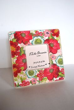 Flower Box Picture Frame by Mmim on Etsy, $16.00