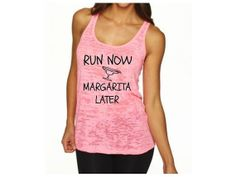 Run Now Margarita Later Burnout Tank Top by EmeraldThreadz on Etsy, $24.99
