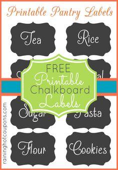 FREE Chalkboard Jar Label Printables! (SUPER CUTE!)