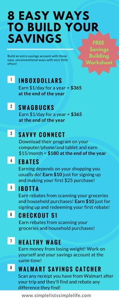 8 easy ways to earn money effortlessly and build your savings account. Easily save for an emergency fund or family vacation! Take this year challenge and see how much money you can save!