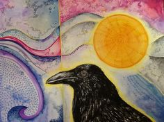 Raven Magic by Mary (CA)  Aaron Brothers Take the Color Challenge